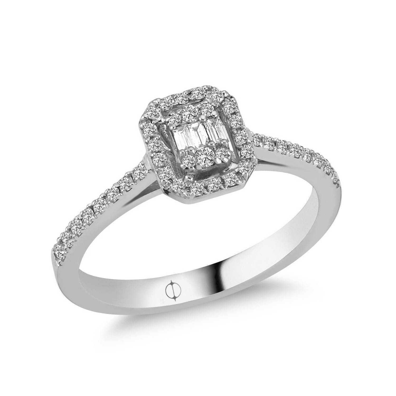 0.28 ct Baguette Diamant Ring