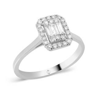 0.31 ct Baguette Diamant Ring
