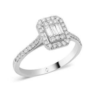 0.38 ct Baguette Diamant Ring