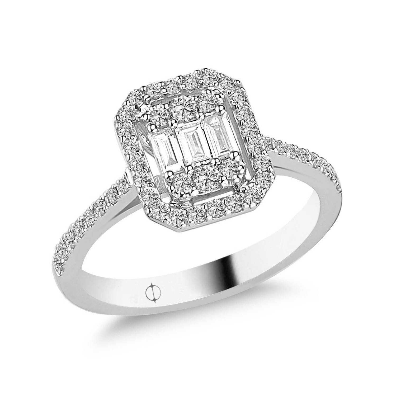 0.41 ct Baguette Diamant Ring