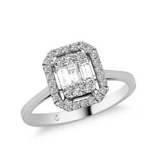 0.48 ct Baguette Diamant Ring