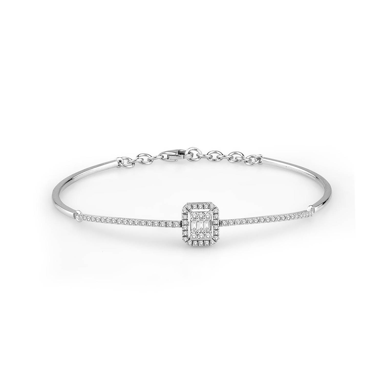 0.45 ct Baguette Diamant Armband