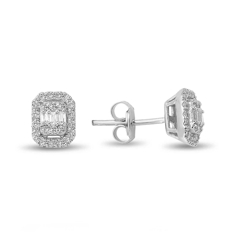 0.33 ct Baguette Diamant Ohrstecker