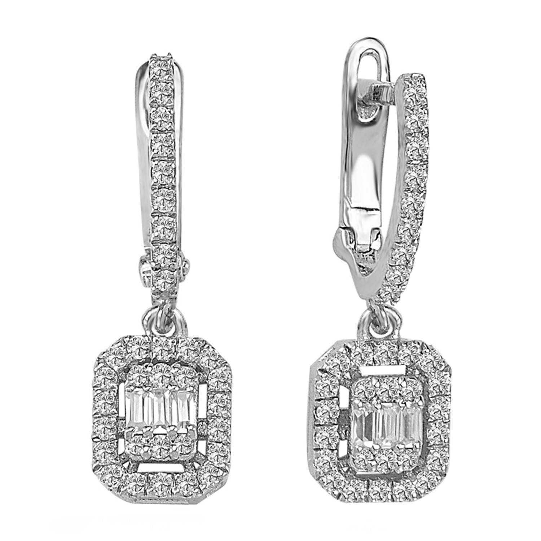 0.40 ct Baguette Diamant Ohrring