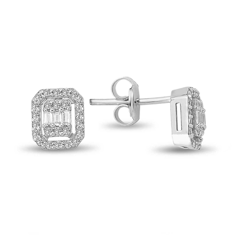 0.32 ct Baguette Diamant Ohrstecker