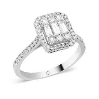 0.79 ct Baguette Diamant Ring