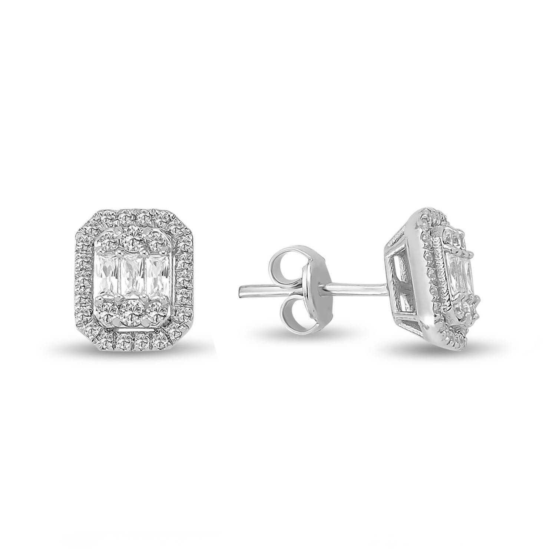 0.87 ct Baguette Diamant Ohrstecker