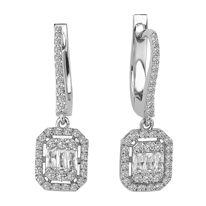 0.73 ct Baguette Diamant Ohrring