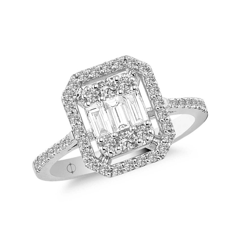 0.78 ct Baguette Diamant Ring