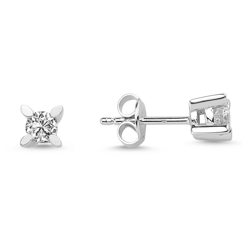 0.30 ct Solitaire Diamond Stud Earrings