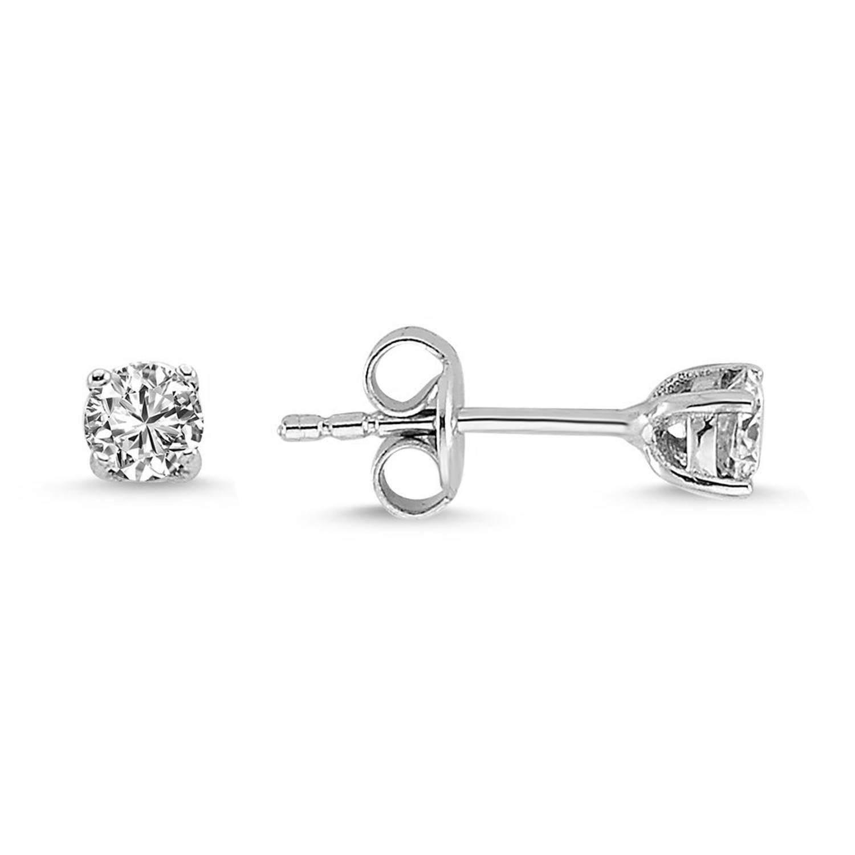 0.50 ct Solitaire Diamond Stud Earrings