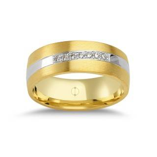 14 Karat Gold Damen Ehering