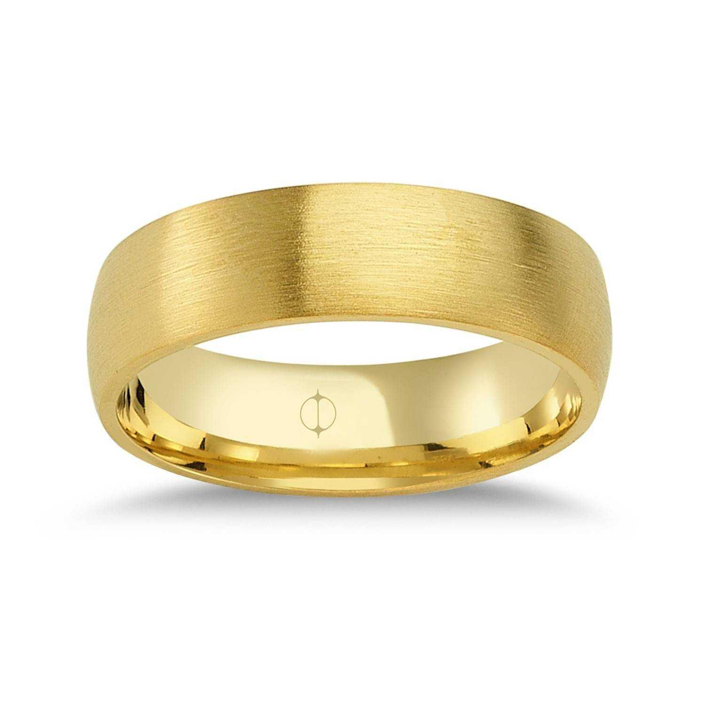 14 Karat Gold Herren Ehering
