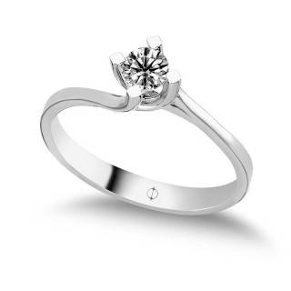 0.25 ct Solitär Diamant Ring