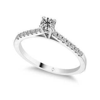 0.36  ct Solitär Diamant Ring