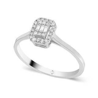 0.20 ct Baguette Diamant Ring