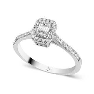 0.26 ct Baguette Diamant Ring
