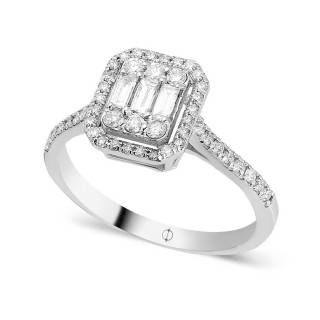 0.55 ct Baguette Diamant Ring