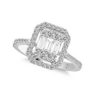 0.78 ct Baguette Diamond Ring